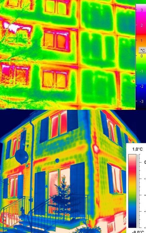 www.ujotthon.5mp.eu homlokzati hőszigetelés , szigetelés nélküli épületek infra hő kép
